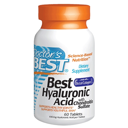 Doctors Best Hyaluronic Acid with Chondroitin Sulfate - 60 Tablets