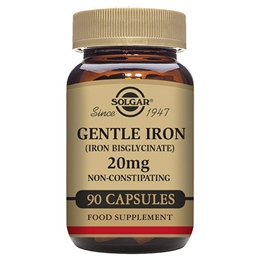 Solgar Gentle Iron - Iron Bisglycinate - 90 x 20mg Vegicaps