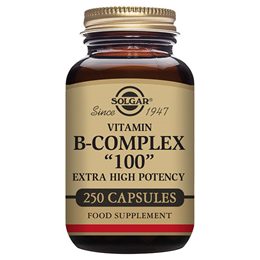 "Solgar Vitamin B-Complex ""100"" Extra High Potency - 250 Vegicaps"