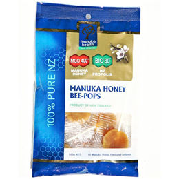 Manuka Health MGO 400+ Manuka Honey Bee-Pops - Lollies - 100g