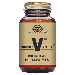 Solgar Formula VM-75 High Potency - Vitamins & Minerals - 60 Tablets