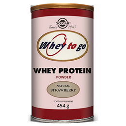 Solgar Whey To Go Protein - Natural Strawberry Flavour - 454g Powder