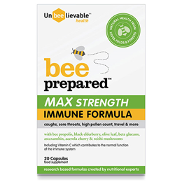 UnBEElievable Bee Prepared - MAX Strength Immune Support - 20 Capsules
