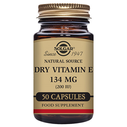Solgar Dry Vitamin E 134mg - 50 x 200iu Vegicaps