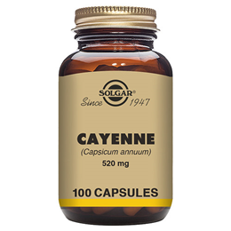 Solgar Cayenne - Capsicum Annuum - Chilli Pepper -100 x 520mg Vegicaps