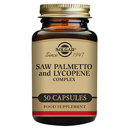 Solgar Saw Palmetto Opuntia and Lycopene Complex - 50 Vegicaps