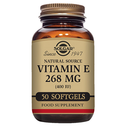Solgar Vitamin E 268mg - Mixed Tocopherols - 50 x 400iu Softgels