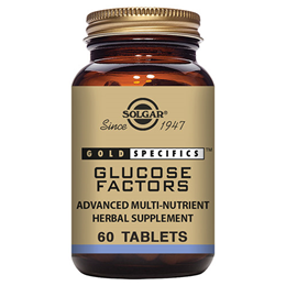 Solgar Gold Specifics Glucose Factors - 60 Tablets - Best before date is 31st August 2020