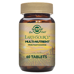Solgar Earth Source Multi Nutrient - Whole Food - 60 Tablets