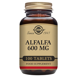 Solgar Alfalfa - Food Supplement - 100 x 600mg Tablets