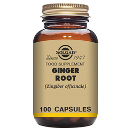 Solgar Ginger Root - Food Supplement - 100 Vegicaps