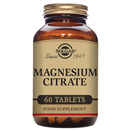 Solgar Magnesium Citrate - High Potency Mineral - 60 Tablets