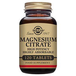 Solgar Magnesium Citrate - High Potency Mineral - 120 Tablets
