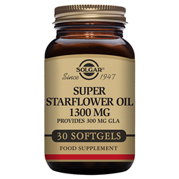 Solgar Super Starflower Oil - Provides 300mg GLA -30 x 1300mg Softgels