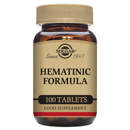 Solgar Hematinic - Iron, Liver, Vitamins B12 and C - 100 Tablets - Best before date is 31st December 2019