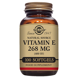 Solgar Natural Source Vitamin E 268mg - 100 x 400iu Vegetable Softgels