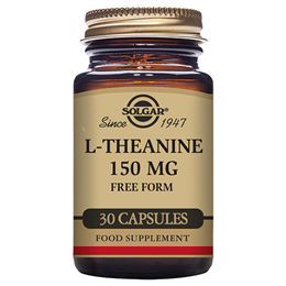 Solgar L-Theanine - Amino Acid - Brain - 30 x 150mg Vegicaps