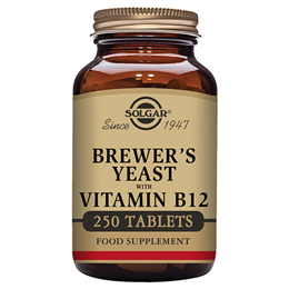 Solgar Brewer`s Yeast with Vitamin B12 - 250 Tablets