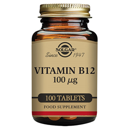 Solgar Natural Vitamin B12 - 100 x 100mcg Tablets