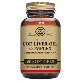 Solgar Super Cod Liver Oil Complex - Added EPA & DHA - 60 Softgels