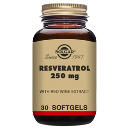 Solgar Resveratrol - High Strength Antioxidant - 30 x 250mg Softgels