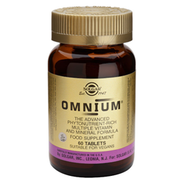 Solgar Omnium - Multiple Vitamin and Mineral Formula - 60 Tablets