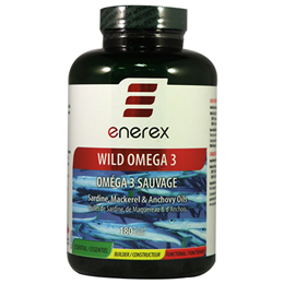 Enerex Wild Omega 3 - Sardine, Mackerel & Anchovy Oils - 180 Softgels