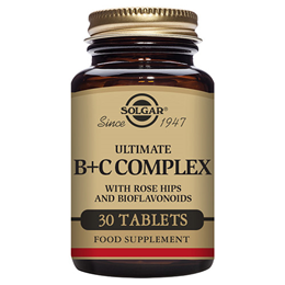 Solgar Ultimate B + C Complex - High Potency - 30 Tablets
