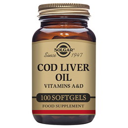 Solgar Cod Liver Oil - Vitamin A & D - 100 Softgels