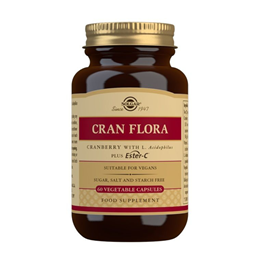 Solgar Cran Flora with Probiotics - Plus Ester C - 60 Vegicaps