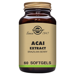 Solgar Acai Extract - Brazilian Berry - 60 Softgels