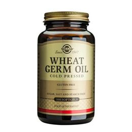 Solgar Wheat Germ Oil - Cold Pressed - 100 Softgels