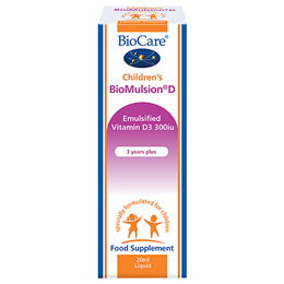 BioCare Children`s BioMulsion D - Emulsified Vitamin D3 300iu - 20ml
