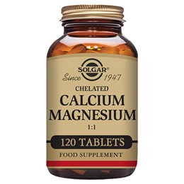Solgar Chelated Calcium Magnesium 1:1 - Bone Health - 120 Tablets