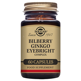 Solgar Bilberry Ginkgo Eyebright Complex - Antioxidant - 60 Vegicaps