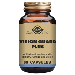 Solgar Vision Guard Plus - Bilberry Ginkgo & Lutein - 60 Vegicaps