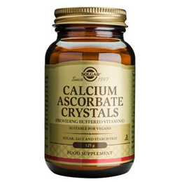 Solgar Calcium Ascorbate Crystals - Buffered Vitamin C - 125g Powder