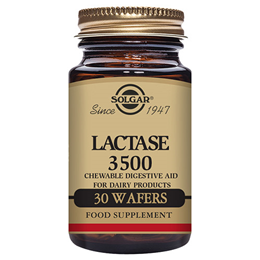 Solgar Lactase 3500 - Vanilla Flavour - 30 Chewable Wafers