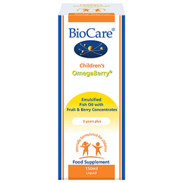 BioCare Children`s OmegaBerry - Emulsified Fish Oil - Berry - 150ml