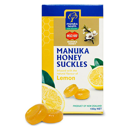 Manuka Health MGO400+ Manuka Honey Suckles - Lemon - 100g