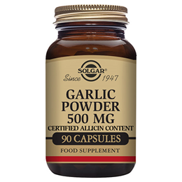 Solgar Garlic Powder - Reduced Odour - 90 x 500mg Vegicaps