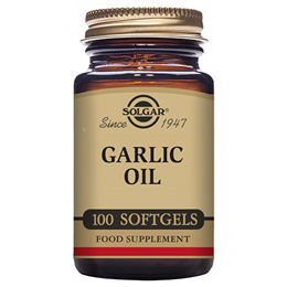 Solgar Garlic Oil - Reduced Odour - Food Supplement - 100 Softgels