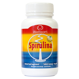 Lifestream Bioactive Spirulina - 100 x 500mg Tablets