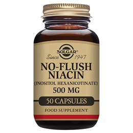 Solgar No-Flush Niacin 500mg - Inositol Hexanicotinate - 50 Vegicaps