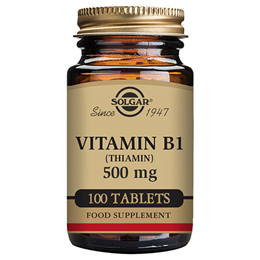 Solgar Vitamin B1 Thiamin - 100 x 500mg Tablets