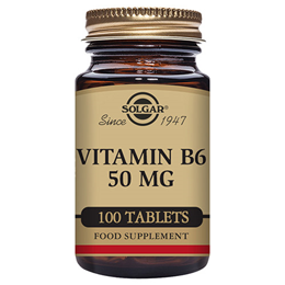 Solgar Vitamin B6 - Cardiovascular Health - 100 x 50mg Tablets