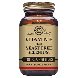 Solgar Vitamin E with Yeast Free Selenium - 100 Vegicaps