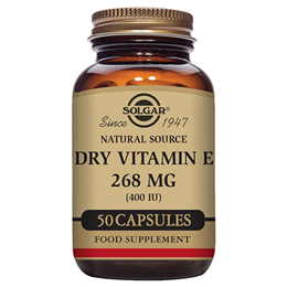 Solgar Dry Vitamin E 268mg - 50 x 400iu Vegicaps