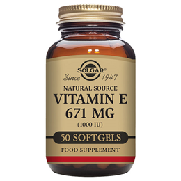 Solgar Vitamin E 671mg - D-Alpha Tocopherol - 50 x 1000iu Softgels
