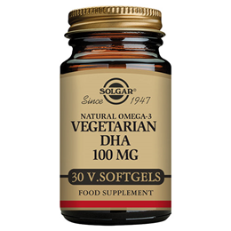 Solgar Vegetarian DHA - Omega 3 Fatty Acid - 100mg x 30 Softgels